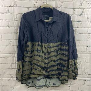Zara premium denim collection tye die bottom shirt